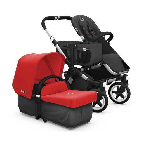 Bugaboo Donkey Extendable Canvas Tailored Fabric Set - Red