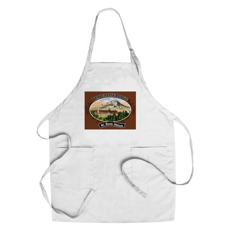 Timberline Lodge - Mt. Hood, Oregon - Oval Spring Design (Cotton/Polyester Chef's (Timberline Lodge Mt Hood Oregon)