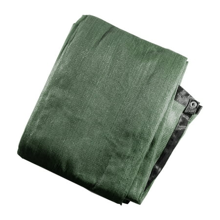 ALEKO Privacy Mesh Fabric Screen Fence with Grommets - 4 x 50 Feet - Dark Green
