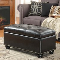 Convenience Concepts Designs4Comfort No Tools 7th Avenue Storage Ottoman, Multiple Colors