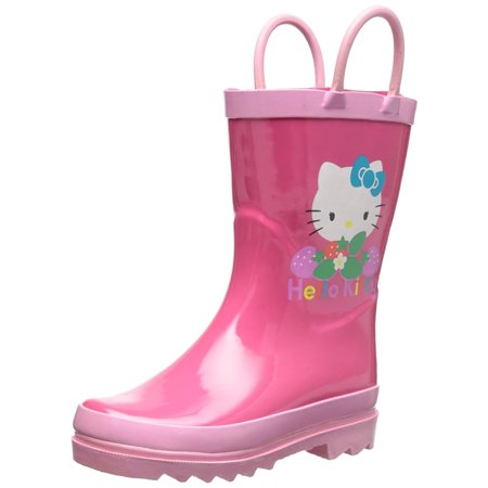 Sanrio Kids Girls' Hello Kitty Character Printed Waterproof Easy-On Rubber Rain Boots (Toddler/Little Kids)