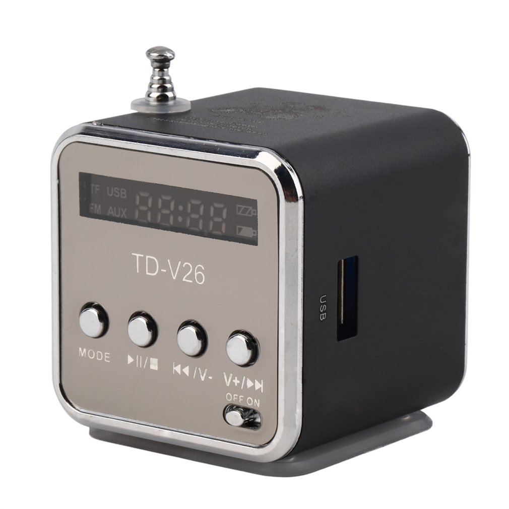Portable Micro TF USB Mini Speaker Music Player Portable FM Radio Stereo