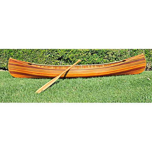 Old Modern Handicrafts Canoe Statue by Overstock