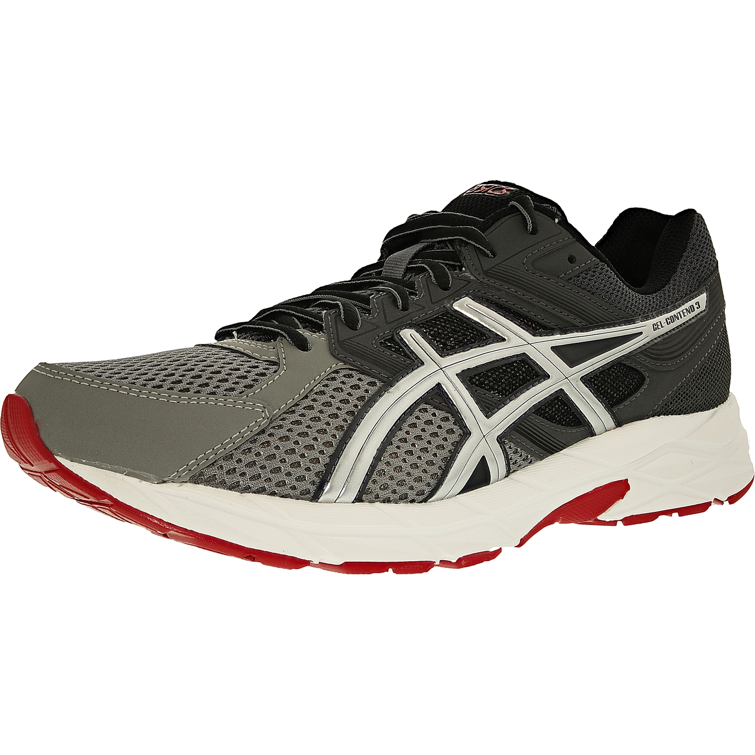 Asics Men's Gel-Contend 3 Titanium Silver Red Ankle-High Running Shoe 8M by Asics