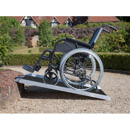 Clevr Extra Wide Non-Skid Foldable Wheelchair Loading Scooter Ramp, 3' (3 Foot Wheelchair Ramp)
