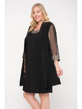 99108bbfdf9 Product Image R M Richards Short Plus Size Mother of Bride Dress