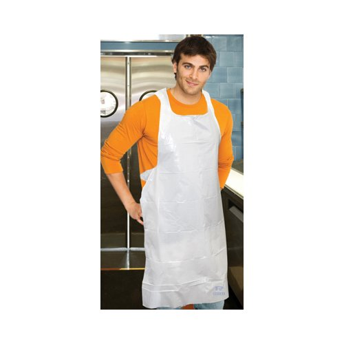 Royal Toner 28'' Polyethylene Apron in White