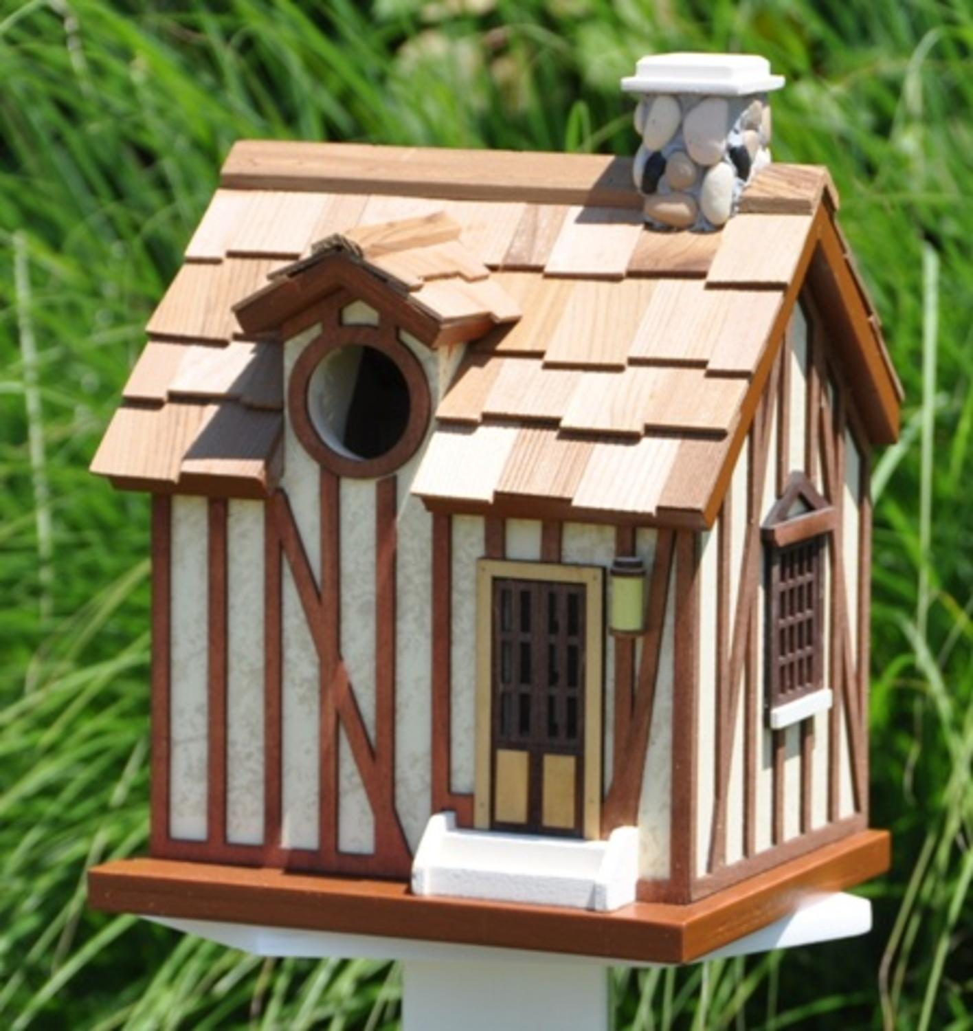 "9.25"" Fully Functional Rustic Country Woods Cabin Birdhouse"