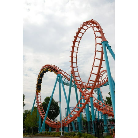 LAMINATED POSTER Roller Coaster Ride Park Coaster Fun Amusement Poster Print 24 x (Vintage Amusement Parks)