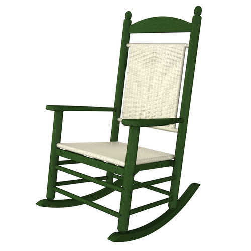 POLYWOOD Rhodes Polywood Rocking Chair in White