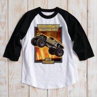Personalized Monster Jam Maximum Destruction Boys' Black Sports Jersey