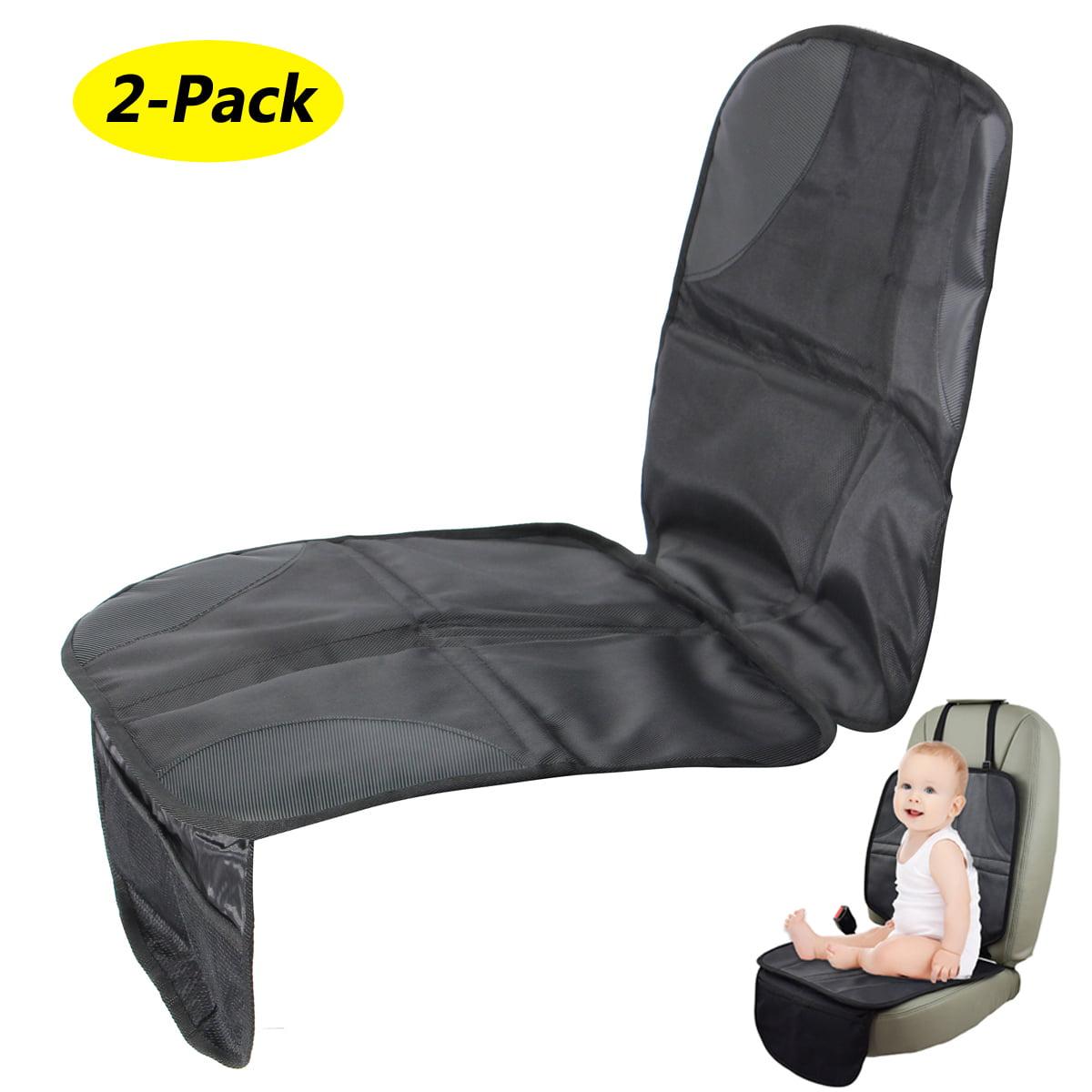 2-Pack Black  Infant Baby Car Seat Protector Mat Cushion Anti Slip Waterproof Easy Clean
