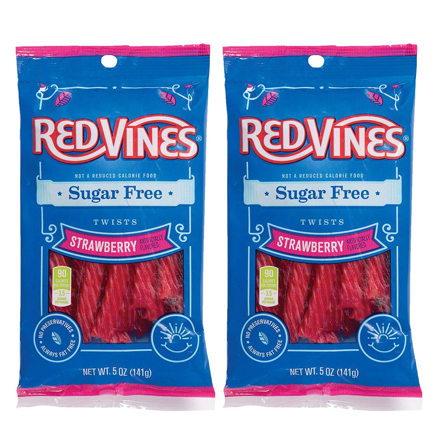 2 Pack Sugar Free Red Vines Strawberry Licorice Twists