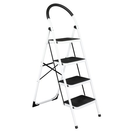 Zimtown 4 Step Ladder Large Heavy Duty Industrial Folding
