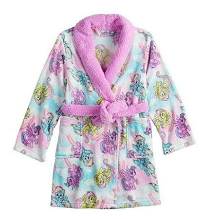 My Little Pony Robe for Girls Bath Robe Faux Fur Plush Toddler Little Girls - Kings Robe Fur