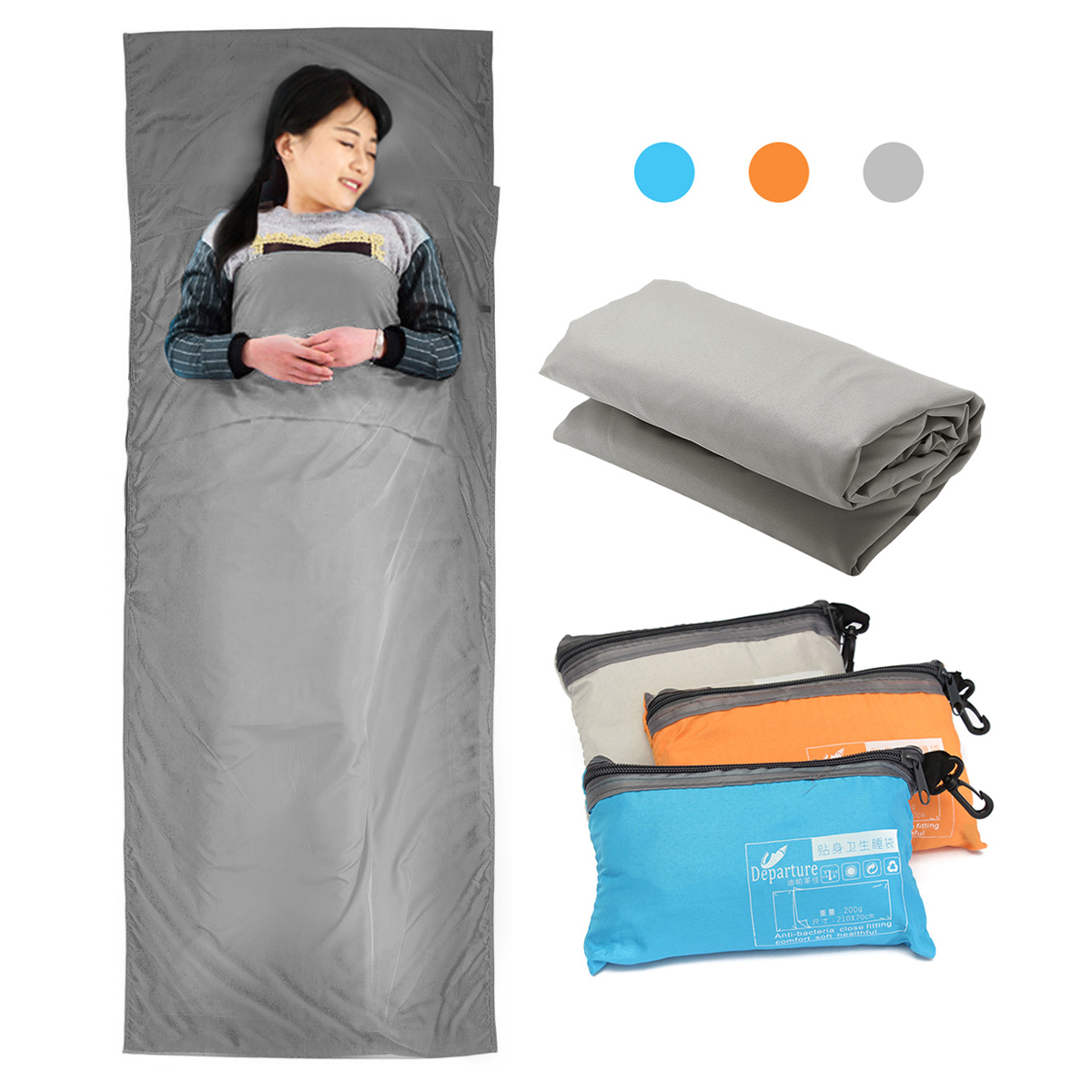 KingCamp Cotton Sleeping Bag Liner Hotel Envelope Sleeping Sheet Compact Portable Lightweight for Traveling Hostels Camping /& Backpacking