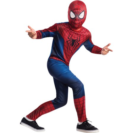 Childs Spiderman The Amazing Spider-Man 2 Movie Costume Boys Large 12-14 (Amazing Spiderman 2 Costume)