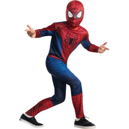 Amazing Spider Man Kids Costume (Childs Spiderman The Amazing Spider-Man 2 Movie Costume Boys Large)