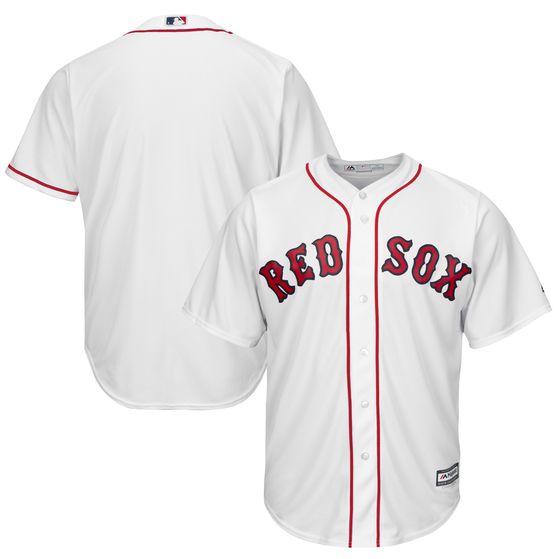 low priced 0c3cc 9ee5c Boston Red Sox Majestic Youth Official Cool Base Jersey - White