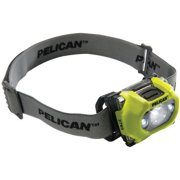 Pelican 027650-0100-245 105-Lumen 2765 Safety Approved 3-LED Headlight, Yellow