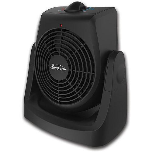 Sunbeam 2-In-1 Tilt & Heat Personal Heater Fan