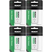 4 Pack Reach Mint Waxed Dental Floss - 200 yard Each