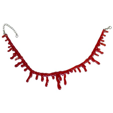 - Halloween Costume Accessory - Adjustable Blood Drip Choker Necklace