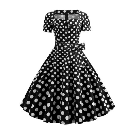UKAP Womens 1950s Cape Collar Vintage Swing Audrey Hepburn Stretchy Rockabilly Swing Party Cocktail Garden Evening Dresses