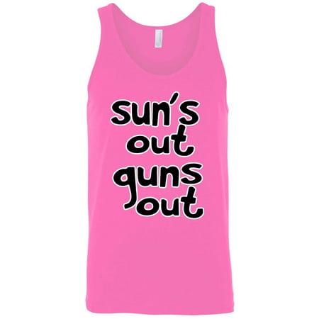 Men's Sun's Out Guns Out Tank Top Shirt (Suns Out Guns Out Shirt Tank Top)