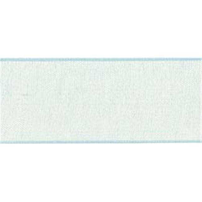 Offray 294315 Simply Sheer Ribbon . 88 inch 4 Yards-Baby Blue