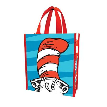 e41090cb99a7 MyPartyShirt - Dr. Seuss Cat In The Hat Small Recycled Shopper Tote ...