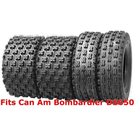 Set 4 Wanda Sport ATV tires 22x7-10 & 20x10-9 Can Am Bombardier DS650 GNCC