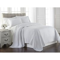 French Impression  Gwenelle Floral Poly-Cotton 3pc Jacquard Matelasse Coverlet Set