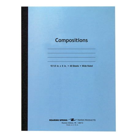 Blue Cover Flex Comp 10 5 X8  Wide Ruled With Margin