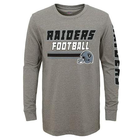 Youth Gray Oakland Raiders Long Sleeve T-Shirt (Oakland Raiders Shirt)