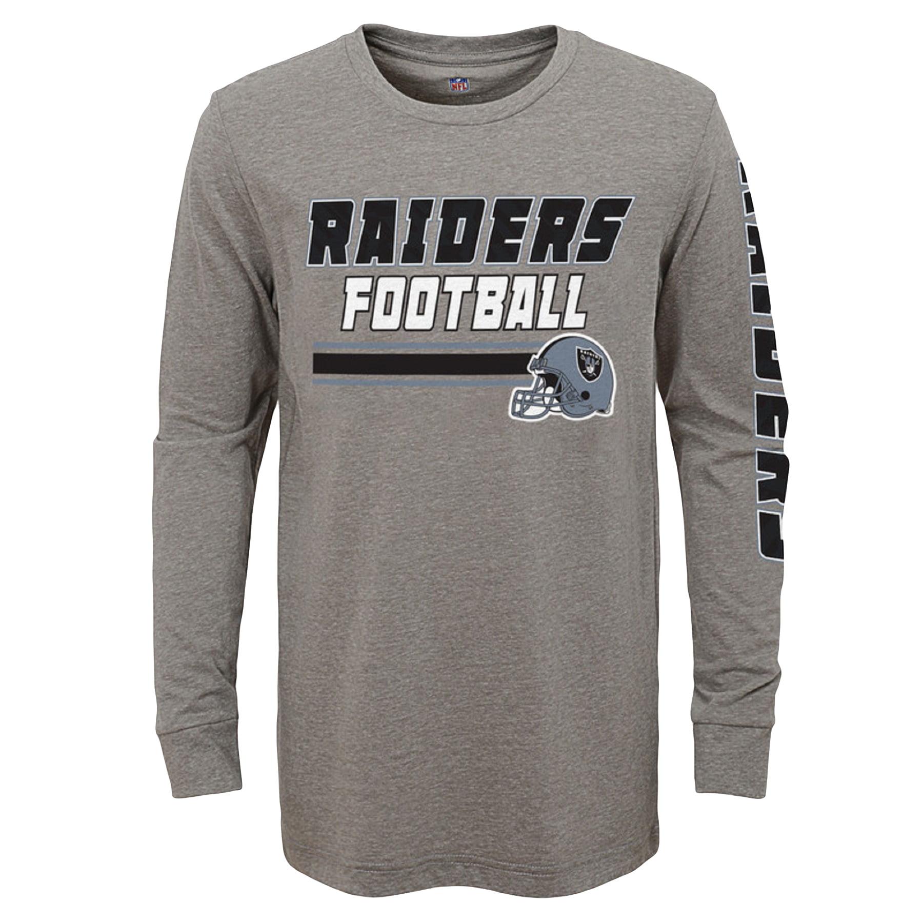 Youth Gray Oakland Raiders Long Sleeve T-Shirt