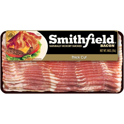 Smithfield Naturally Hickory Smoked Thick Cut Bacon, 16 oz