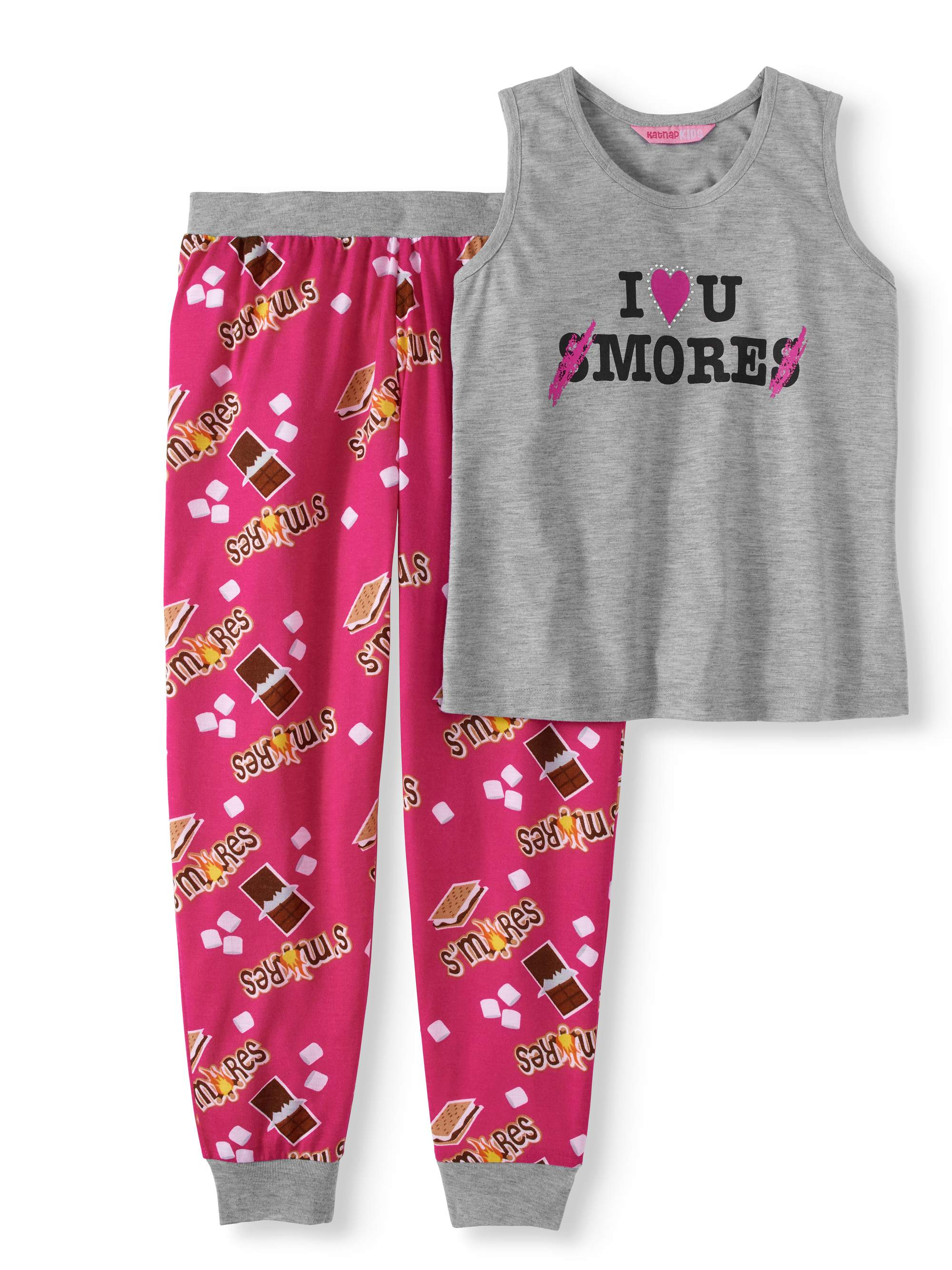 Kat Nap Girls' 2-Piece Pajama Set
