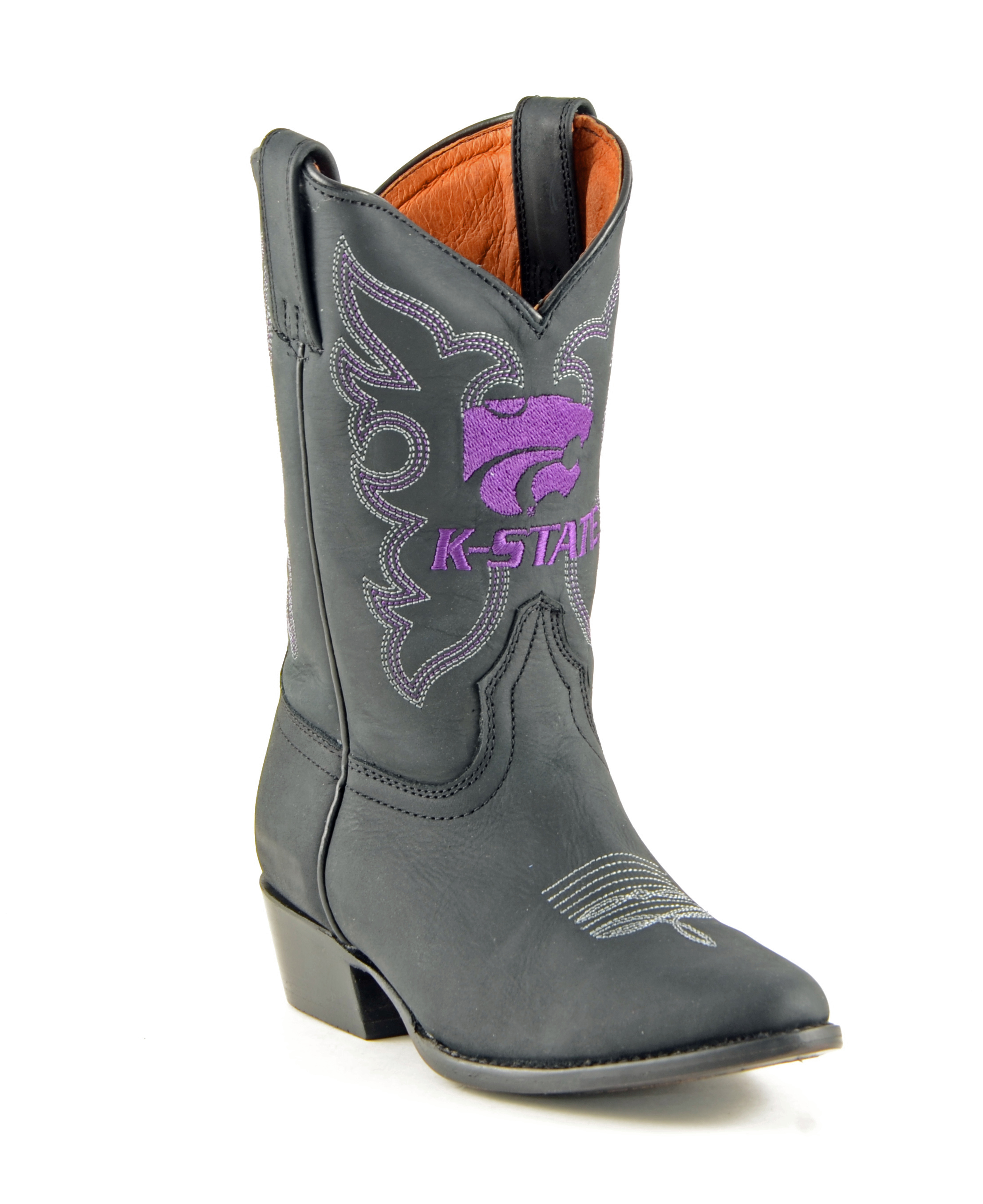 Gameday Boots Boys Cowboy College Team Kansas State Black KST-B015-2 by Gameday Boots