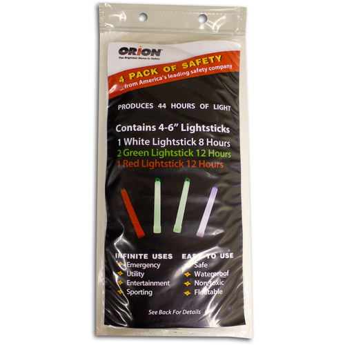 Orion Safety Products Lightsticks, 4pk