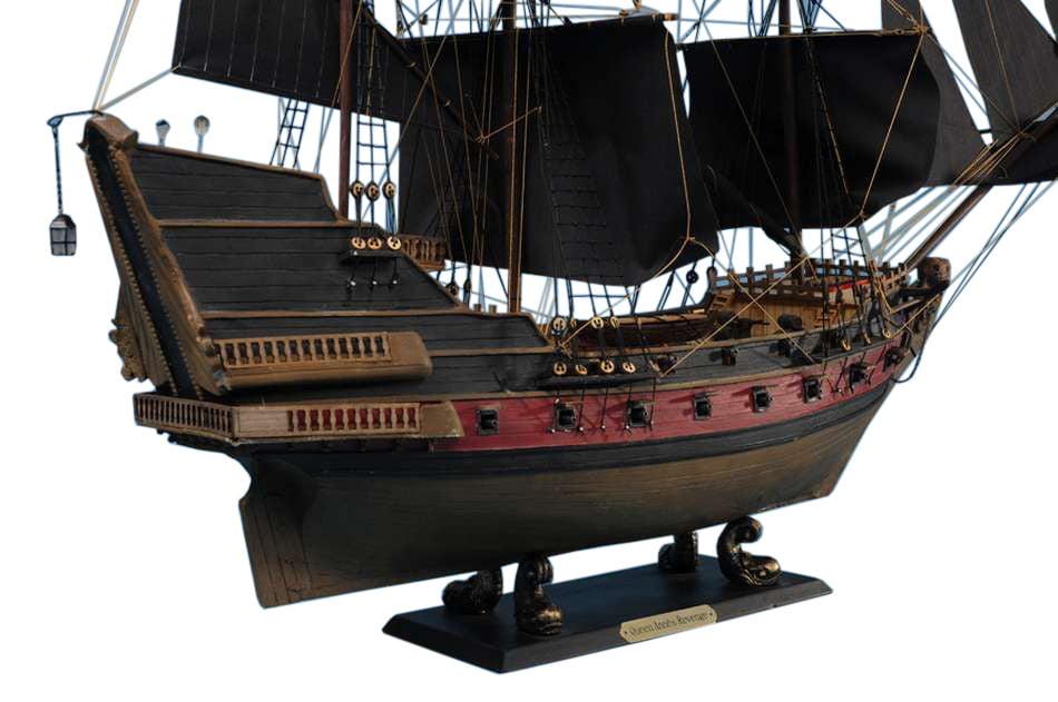 "Black Bart's Royal Fortune Limited Model Pirate Ship 24"" Black Sails by Hampton Nautical"