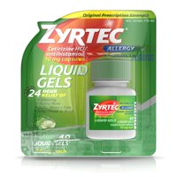 Zyrtec 24 Hour Allergy Relief Liquid Gels, 40 Ct