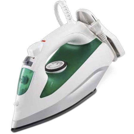 Mainstays Cord Wrap Steam Iron  Green