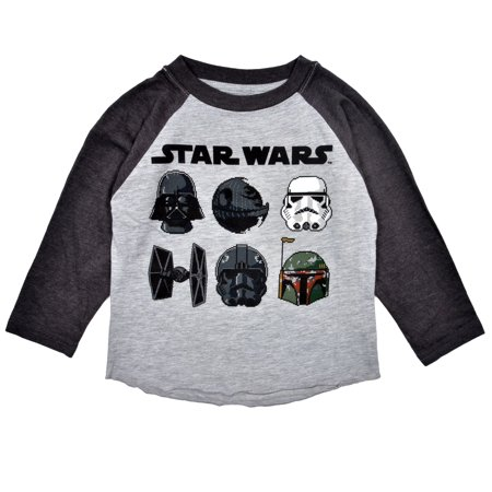 Star Wars Pixelated Characters Gray Toddler Boys T-Shirt