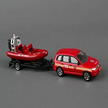 Daron FDNY Die-Cast Auto Trailer Set (1:64 Scale) Daron Worldwide Trading Diecast Vehicle