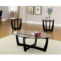 Furniture Of America Tesha Contemporary 3 piece Accent Table Set Black