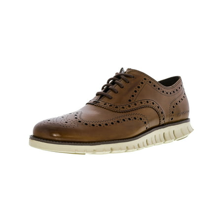 Cole Haan Men's Zerogrand Wing Oxford British Tan Ankle-High Leather Shoe - 10.5M