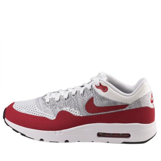 Nike - Nike Mens Air Max 1 Ultra Flyknit White University Red 843384 ... 318bdcd597