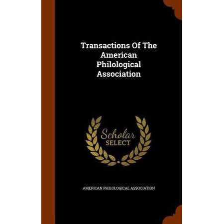 Transactions of the American Philological Association - image 1 of 1