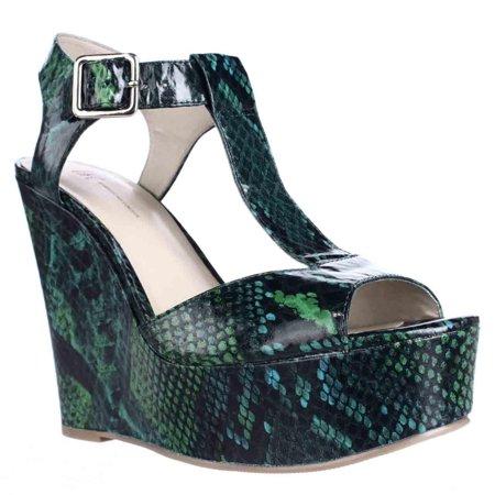 c65b8445f14 I35 - Womens I35 Darma T-Strap Platform Wedge Sandals - Amazon Green -  Walmart.com